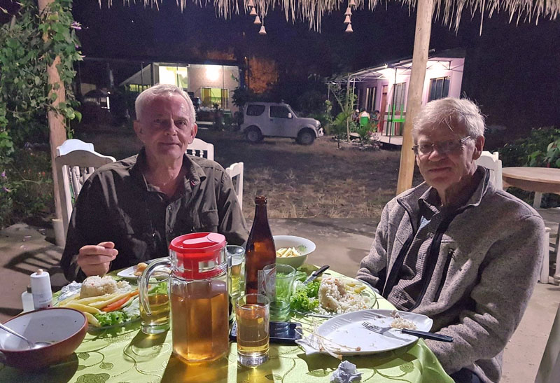 Peter Møllmann and Gottfried Siebel. Caranavi, Yungas, Bolivia december 2, 2018. Photographer; Peter Møllmann